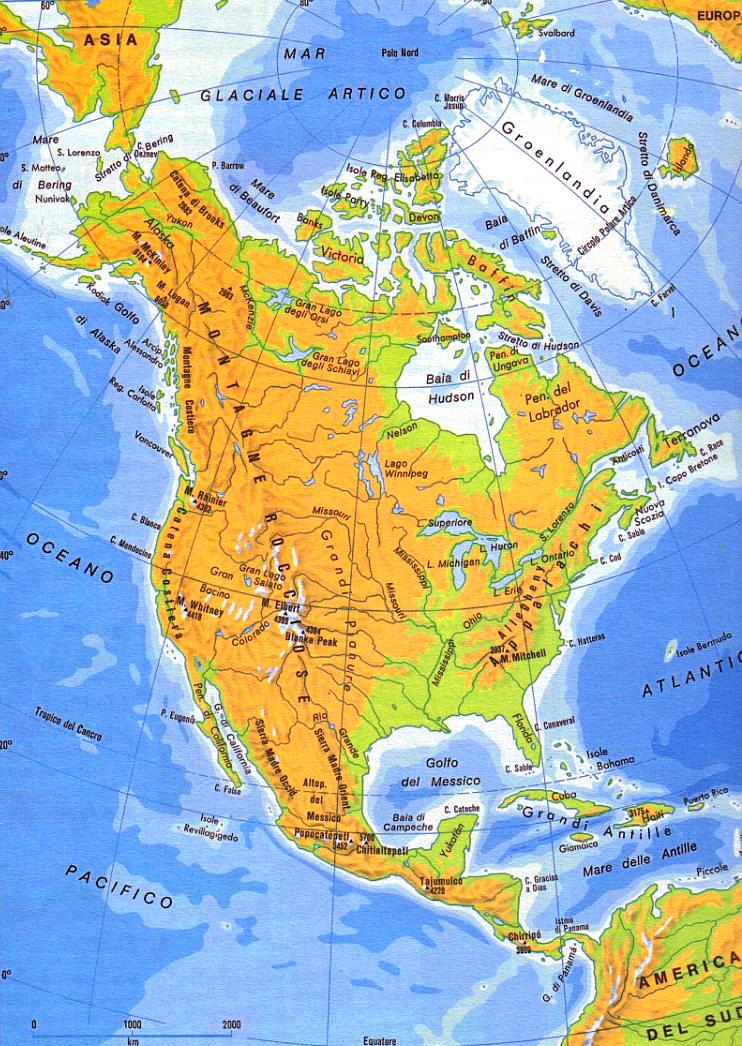 America Settentrionale Cartina.L America Settentrionale E Centrale Lessons Tes Teach