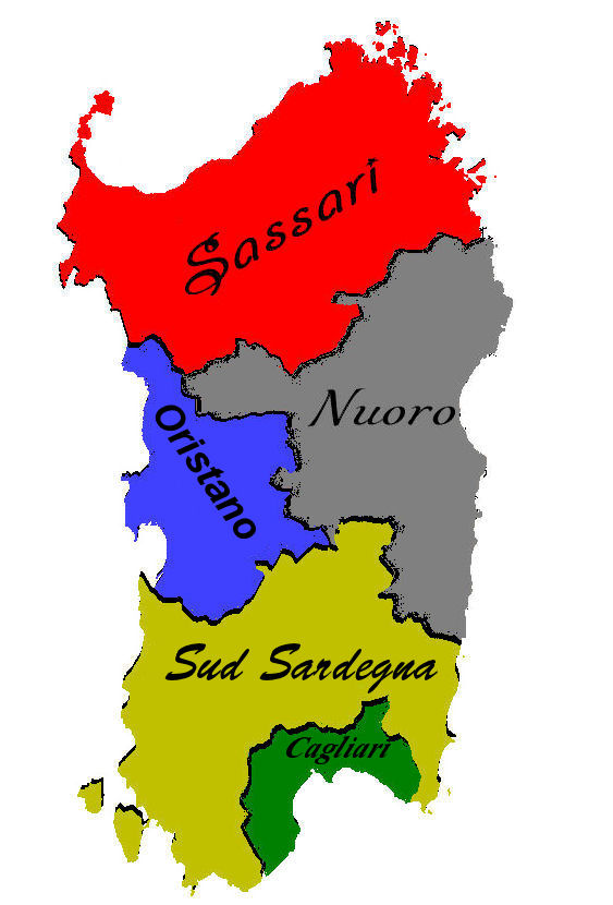 Cartina Politica Sardegna 2017.Cartina Fisica E Politica Della Sardegna