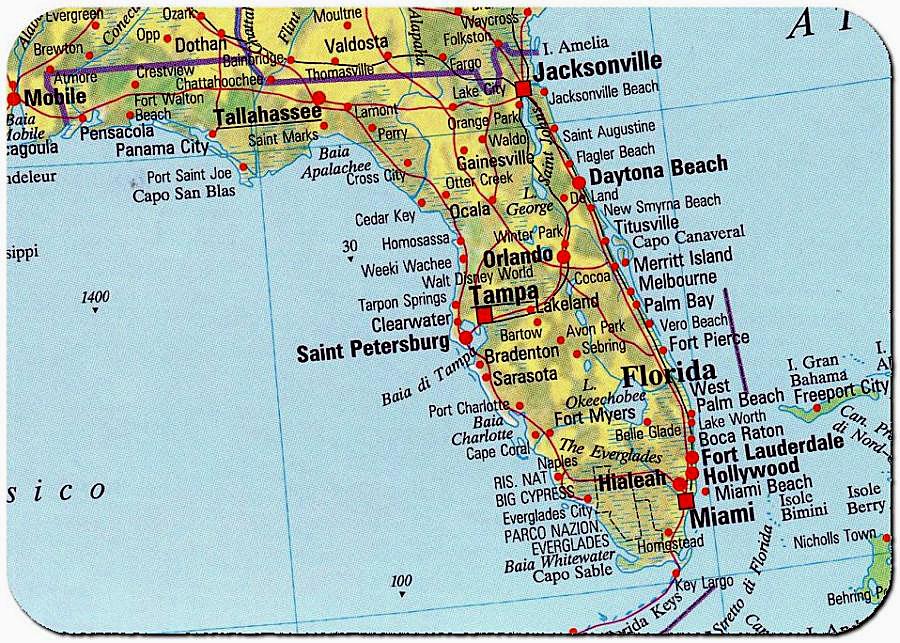 Stati Uniti Cartina Fisica E Politica.Cartina Florida
