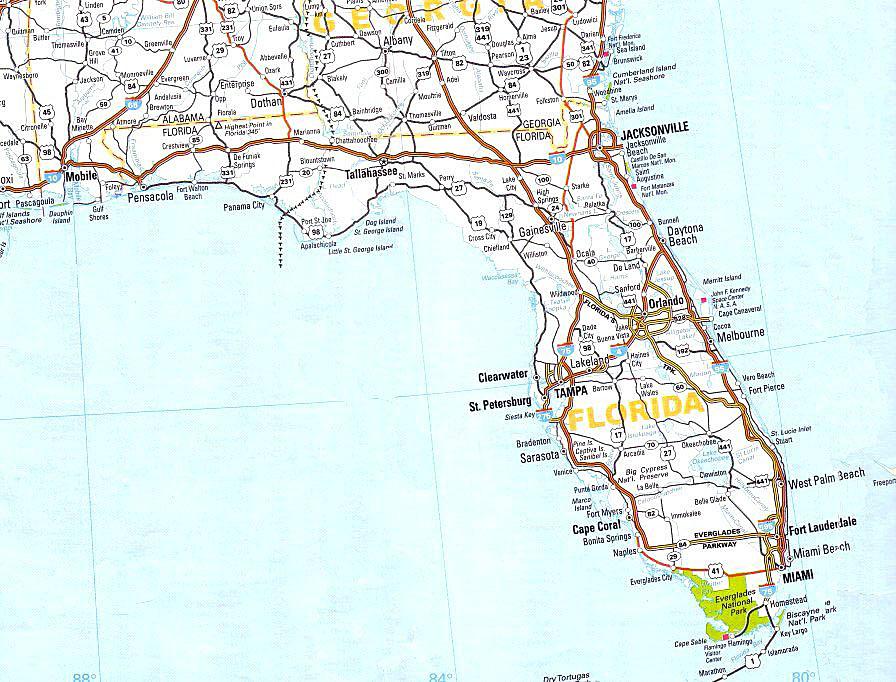 ... florida cartina florida la cartina geografica e stradale della florida