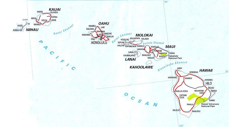 Cartina Mondo Hawaii.Hawaii Stato Delle Hawaii Dati Generali Aspetto Fisico Morfologia