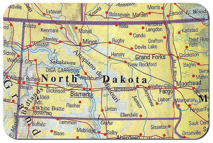 Cartina Nord.Cartina Dakota Del Nord